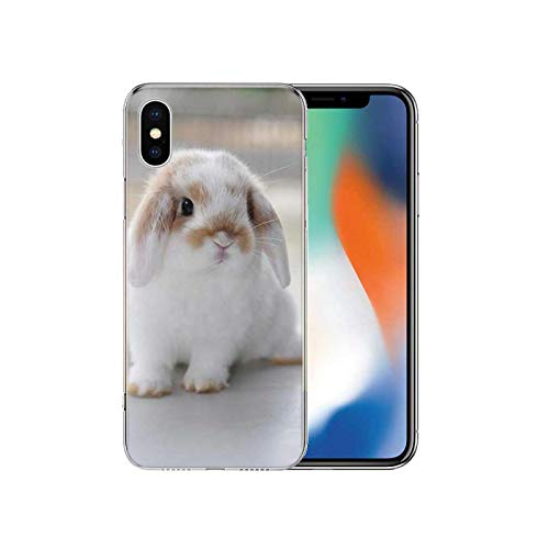 White Baby Rabbits Soft TPU Black Phone Case for iPhone 12 11 Pro X XS Max XR 7 8 6 6S Plus 10 Ten 5S se 2020 Cover -B886 (7)-for iPhone 5S 5 SE