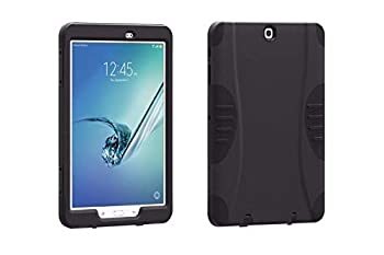 Verizon OEM Rugged Shock Absorbing Impact Protection Case with Built-in Screen Guard for Samsung Galaxy Tab E 9.6  - Black