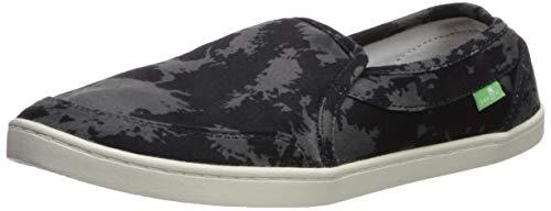 Sanuk Women's Pair O Dice Prints Loafer Flat, Black tie dye, 05 M US