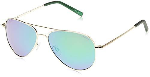 Polaroid PLD 6012/N K7 J5G Gafas de sol, Dorado (Gold/Green Grey Speckled Pz), 56 Unisex Adulto