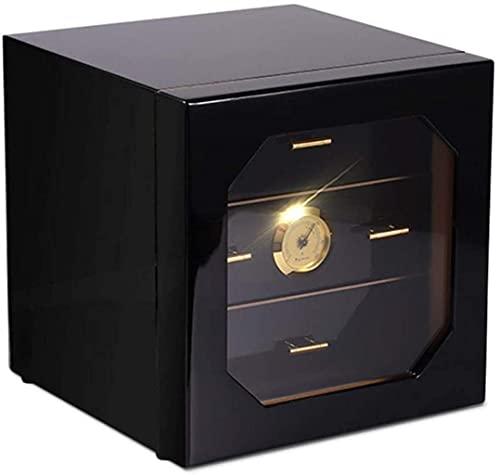 GAOYINMEI Humidor Gabinete de cigarros Cárno de cigarro Humidificador Higrómetro 3 Cajones Capas Caja de Almacenamiento de cigarros
