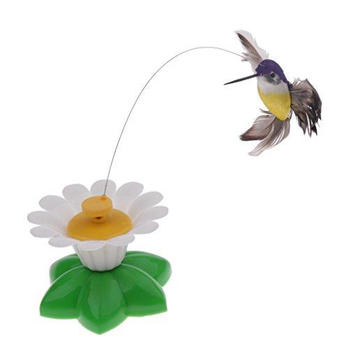MagiDeal Katzenspielzeug, elektrisches Rotierendes Spielzeug mit Schmetterling/Vogel, lustiges interaktives Spielzeug für Katzen und Kätzchen - Kolibris