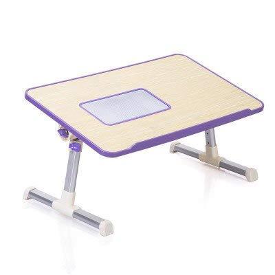 ADSIKOOJF Eenvoudige Laptop Tafel Opklapbare Bed Bureau Koeling Studenten Lezen Studeren Bureau Computer Bureau Met Ventilator
