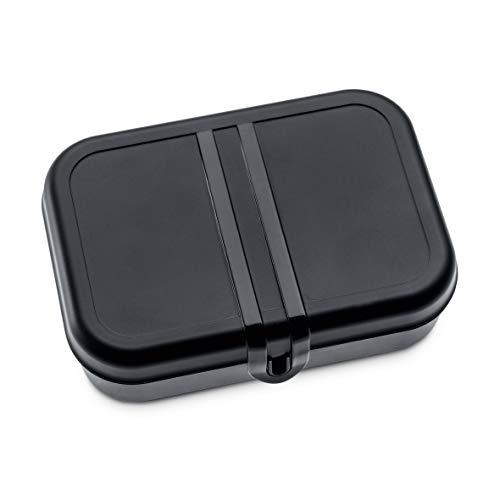 Koziol Portameriendas Pascal S, plástico, plástico, Negro y Blanco, Large