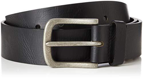 Marca Amazon - find. Cinturón de Cuero Hombre, Negro (Black), M, Label: M