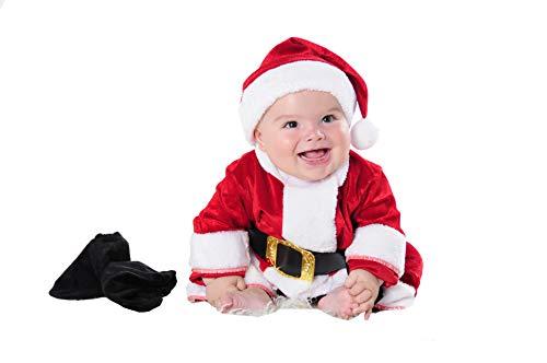 Costumizate! Disfraz de Papa Noel para Bebe Talla de 0 a 6 Meses Especial de Navidad