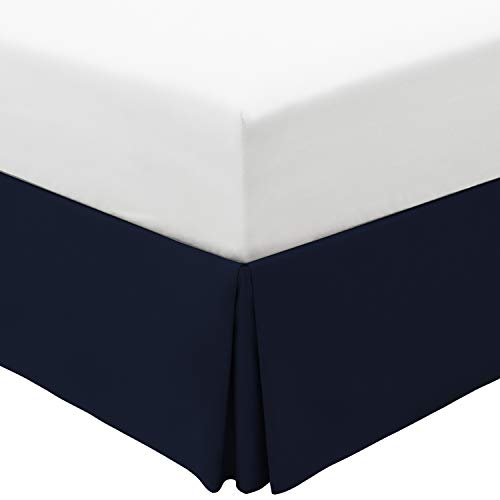 Mellanni Bed Skirt Full Size - 15-Inch Tailored Drop Pleated Dust Ruffle - 1800 Double Brushed Microfiber Bedding - Easy Fit, Hypoallergenic, Wrinkle, Fade, Stain Resistant (Full, Royal Blue)