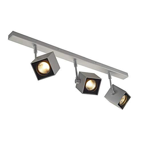 SLV LED Strahler ALTRA DICE dreh- und schwenkbar , Dimmbare Wand- und Deckenleuchte zur Beleuchtung innen , LED Spot, Deckenfluter, Deckenstrahler, Decken-Lampen, Wand-Lampe , 3-flammig, GU10, E-A++