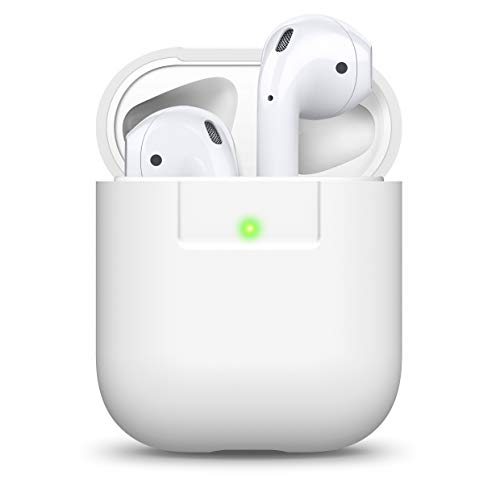 Elago AirPods Coque en Silicone pour Apple Airpods 2 et 1 LED Avant Visible Blanc