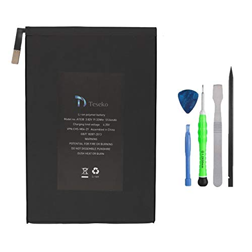 Replacement Battery for iPad Mini 4, Teseko Battery Kit with Repair Tools, Premium Battery Toolkit Set Compatible with A1538 A1546 A1550