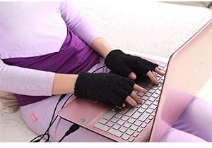 Obbomed MH 1000 Far Infra red Carbon Fiber Heated Warming Gloves Half Finger USB 5V 6W Laptop product image
