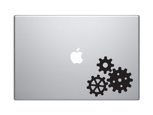 "Industry #6 - Gear Mechanical Engineering Construction - 5"" Black Vinyl Decal Sticker Car Macbook Laptop"
