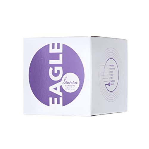 Loovara 12 Kondome in individuellen Größen - Kondomgröße 47 - Size Eagle - Kondome dünn aus Fair Rubber - Für mehr Fun & Feeling beim Sex - Vegane Präservative im 12er Pack