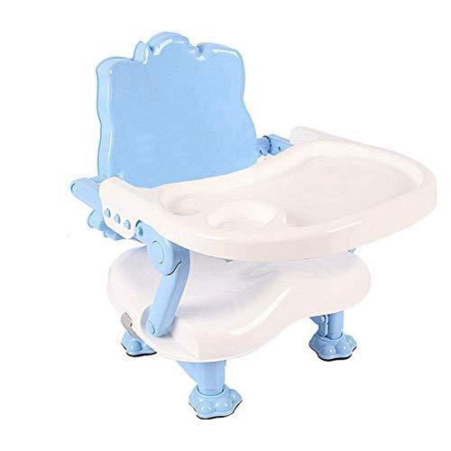 Tabla niños Set Altura plegable de la bandeja del cinturón de seguridad estable Segura cómoda silla ajustable asiento portable del escritorio desmontable multifunción bebé Booster y una silla for niño