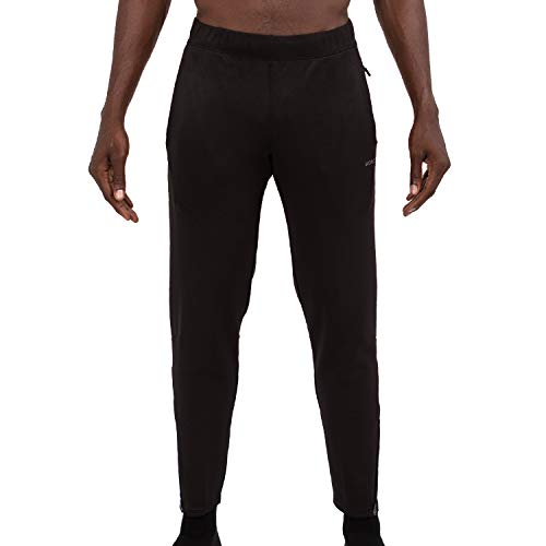 Skora Men's Slim Fit Stretch Gym Pants (Medium, Black)