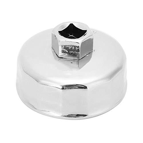 LXH-SH Kraftstofffilter Herramienta de Carcasa de Filtro de Aceite de Aceite Especial de la Llave del Aceite de la Tapa 901 (diámetro Interno 65 mm) Llave de Filtro de Aceite de Acero Inoxidable