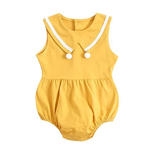 UMore Body Bebé Niña Recién Nacido Trajes De Mameluco De Una Pieza Color Sólido Care Pijama para Bebé Niña Verano Jumpsuit Bebé Mono para Bebé Body Bebé Tirantes