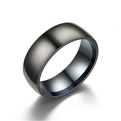 Figutsga - Anillo de acero de titanio para hombre, diseño clásico simple de joyería de boda, compromiso, adorno de regalo