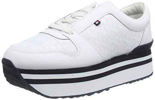 Tommy Hilfiger Damen Ariana 1a2 Sneaker, Beige (White YBS), 39 EU