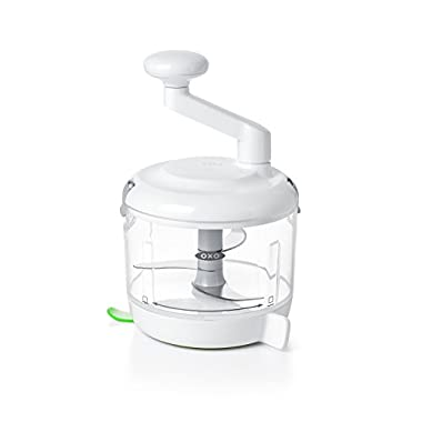 OXO Good Grips One Stop Chop Manual Food Processor, 4-cup capacity