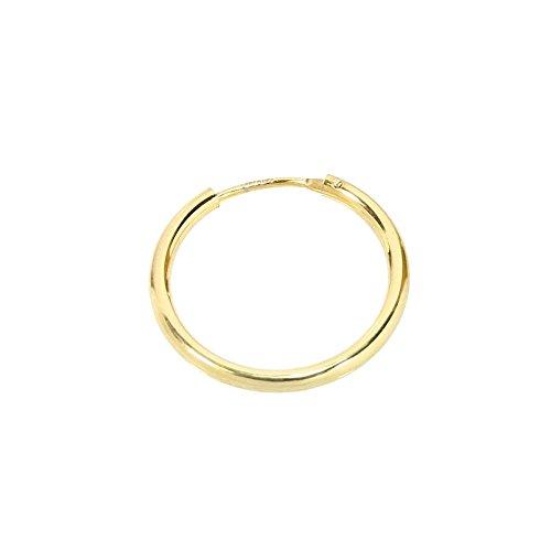 NKlaus EINZEL 585 gelb Gold CREOLE Ohrring Ohrschmuck rund Goldohrring 20mm 1848