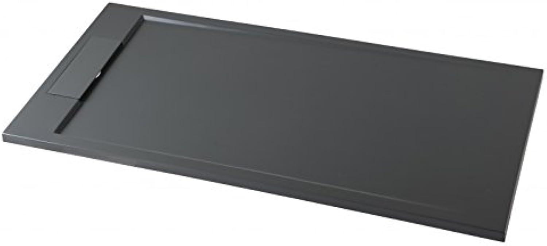 Bernstein Badshop Duschtasse rechteckig Mineralguss-Duschwanne M2290CG   PB3085GG - Grau glnzend - 120x90x3,5cm