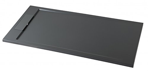 Bernstein Badshop Duschtasse rechteckig Mineralguss-Duschwanne M2290CG / PB3085GG - Grau glänzend - 120x90x3,5cm