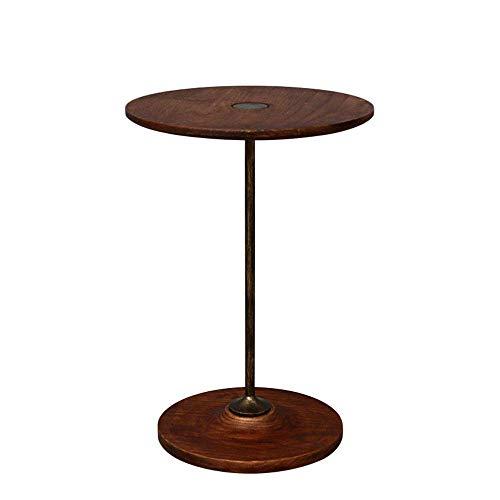 N/Z Tägliche Ausrüstung Industrielle runde kleine Beistelltische Couchtisch Sofa Beistelltisch Nachttisch für Wohnzimmer Schlafzimmer Beistelltisch (Farbe: Braun Größe: 35x50cm)