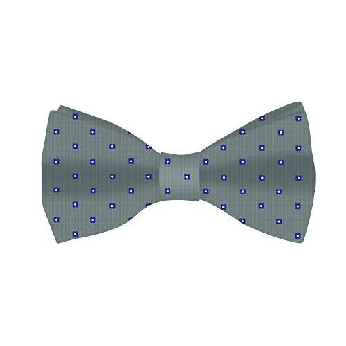 Fliege in Grau mit blauen Blüten | 5 Jahre Garantie | Geschenke für Männer | Bräutigam Zubehör