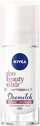 NIVEA Deo Beauty Elixir Roll On (40 ml), pflegendes Antitranspirant mit antibakteriellem Schutz, 48h Deodorant mit Deomilch aus Milchessenz und Vitaminen