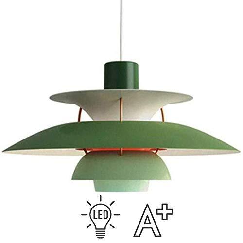 JXWANG Moderne Kronleuchter Nordic PH5 Pendelleuchten Dänische Designer Licht Westlichen Kronleuchter Deckenleuchte Dekoration Leuchte Industrie Single Lounge Grün (30 cm / 40 cm / 50 cm),Green-40CM