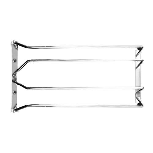 Porta Bicchieri Vino, Acciaio Inossidabile Calici Rack, Singola/Due Fila Appendere Portabicchieri Vino Per Cucina, Bar, Pub, Ristorante (due file)