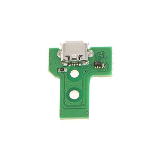 Sharplace Placa de Circuito Puerto de Carga USB Micro-B Herramientas para Regulador de Sony PS4 de Color Verde