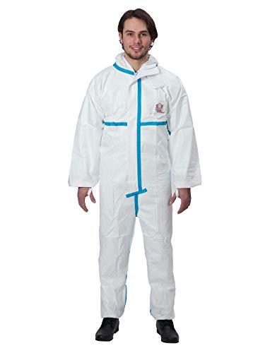 Protek-System PROTEC Plus weiß Gr. Protec Plus Overall Chemikalienschutzkleidung Schutzanzug EN14126 Kategorie 3 Typ 4/5/6 weiß L