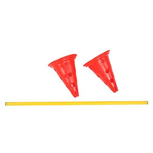 SMBYLL Plástico Altura Ajustable Entrenamiento De Fútbol Marco De Valla Obstáculo De Baloncesto Equipo De Entrenamiento De Agilidad Rojo