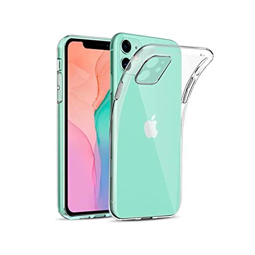 P Pevita Funda Transparente TPU Compatible con iPhone 11 [1,5 mm] Anti-amarillea. Carcasa Gel Silicona para iPhone 11 con absorción de Golpes y antiarañazos.