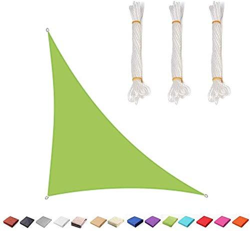 LanXin Triángulo rectángulo Parasol Toldo de Vela Toldo, 98% UV Bloqueo (Disponible for tamaños Personalizados), 5 * 5 * 7.1M (Tamaño Personalizable)