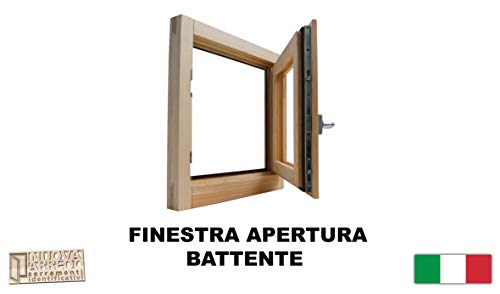 Fenster in rauen Holzfenstern cm 60 x 60 cm, doppeltes Thermoglas mit Argon-Gas