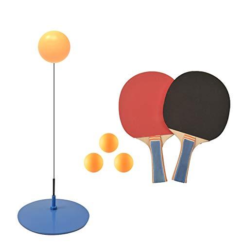 Super-ZS Entrenador De Tenis De Mesa, 3 × Ping Pong 2 × Raqueta 90cm Eje Flexible Elástico Altura Ajustable Juego De Tenis De Mesa Familiar para La Prevención De La Miopía