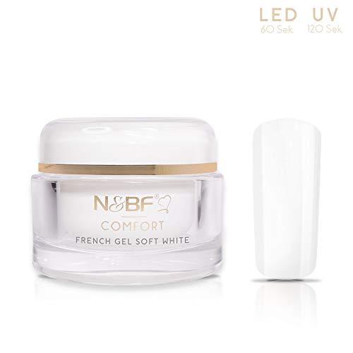 N&BF UV+LED French Gel Comfort Line Soft White   30ml hochwertiges Profi Frenchgel Weiß dickviskos   Professionelles Nagelgel für French Manicure milchig   Made in Germany