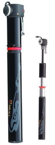 Airace Fit H2, Pompa Mini per Bicicletta, 120PSI, Colore: Nero, 225g