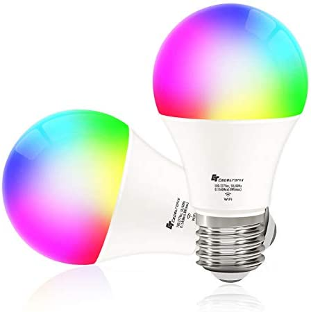 CT CAPETRONIX Smart Alexa Light Bulbs Works with Alexa Echo Google Home Assistant IFTTT and product image