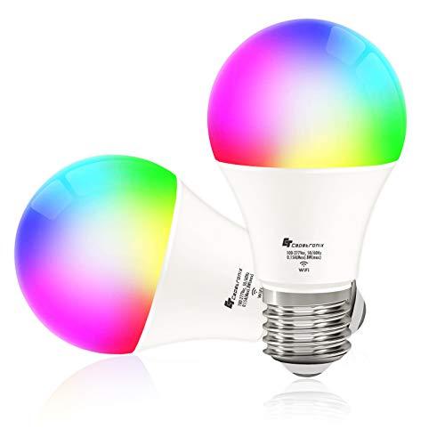CT CAPETRONIX Smart Alexa Light Bulbs Works with Alexa Echo Google Home Assistant, IFTTT and Siri...