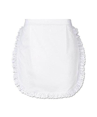 Alexandra stc-w83wh-r kurze Taille Schürze, Uni, 67% Polyester/33% Baumwolle, eine Größe, weiß