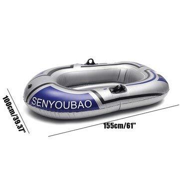 PeroFors Una / Dos Personas Barco De Pesca Kayak Inflable Canoa Remo Bote De Aire Doble Válvula Accesorio De Buceo A La Deriva - 2