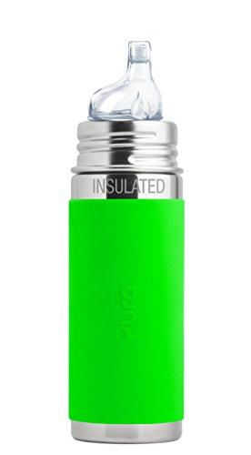 Pura kiki ISOLIER Babyflasche grün Pura Stainless Trinklernsauger