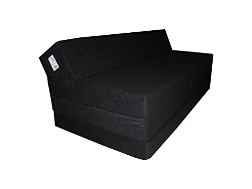 Natalia Spzoo Fold Out Sofa - folding mattress - 200 cm long (Black)