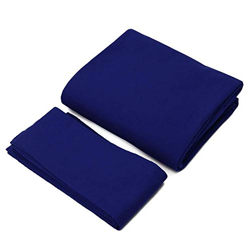 POHOVE Hôtel 7 8 9ft Tapis 6pcs Bandes Barre Billard Table de Billard Chiffon Professionnel Durable - Bleu 9inch, 9ft