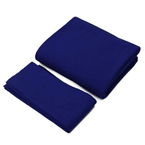 Amusingtao Billiard Tisch Filz Pool Tuch, Snooker Innen Sports Spiel Tischdecke Mit 6 Kissen Tuch Streifen Für 7/8/9 Foot Billiard Pool - Blau, 7ft