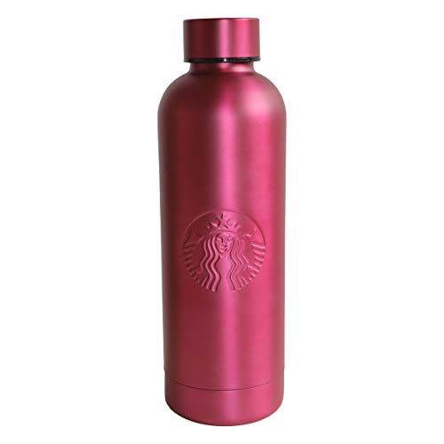 Starbucks Coffee Botella de goma Orbit de acero inoxidable, 561 ml